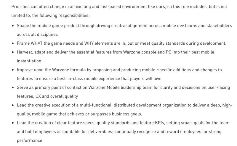 Похоже, Activision работает над мобильной версией Call of Duty: Warzone