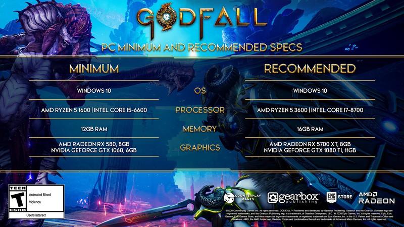 Системные требования Godfall — Пока без трассировки лучей