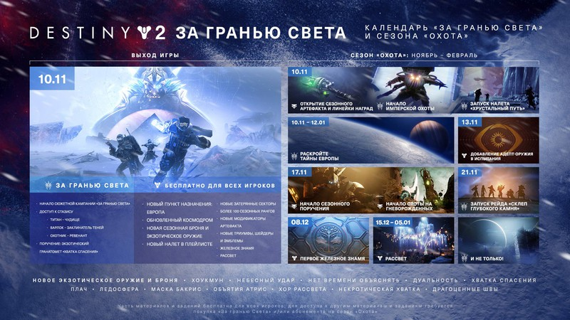 """Трейлер сезона """"Охота"""" в Destiny 2 — старт 17 ноября"""