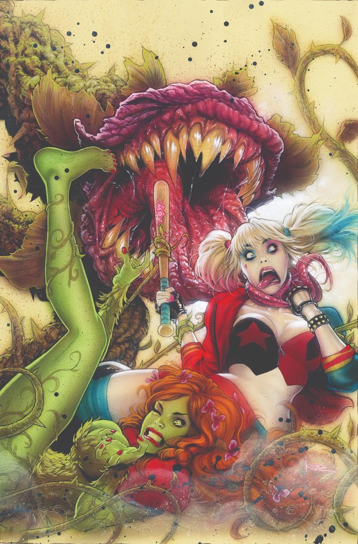 Харли Квинн и Ядовитый Плющ на обложке антологии DC в честь дня Св. Валентина