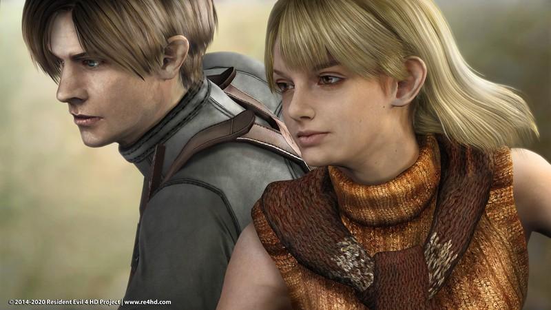 Моддеры показали обновленного Леона и Эшли из ремастера Resident Evil 4