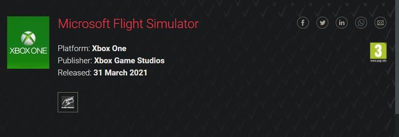 Microsoft Flight Simulator получила возрастной рейтинг на Xbox One