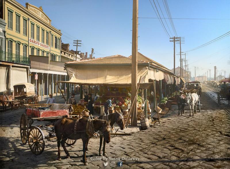 Раскрашенная фотография 1906 года выглядит, словно скриншот из Red Dead Redemption 2
